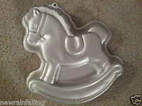 WILTON Vintage ROCKING HORSE BABY SHOWER Cake Pan Mold Tin Worldwide Shipping