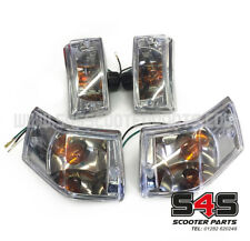Indicator Set with Clear Lexus Style Lenses - For Vespa PX T5 LML 125 150 200