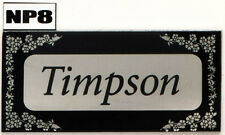 House Sign Plaque Personalised Name Plate Door Number New Flat Nameplate
