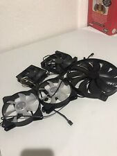 Lot Of 5 Computer Fans(Cooler master, Corsair, NZXT)
