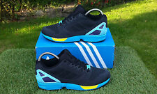 BNWB & Genuine Adidas Originals ZX Flux Weave BLACK AQUA Trainers UK Size 11
