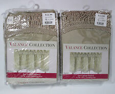 """Pair of Scallope Valance Window Treatments 51""""W x 18""""L Windsor Style Un-Opened"""