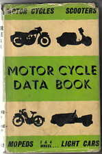 Motor Cycle Data Book Motorcycles Scooters Mopeds & Light Cars 3 & 4 Wheelers