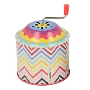KEYCRAFT TIN MUSIC BOX - WD154 TOY WIND UP PATTERN NOISE TURNING SONG SOUND