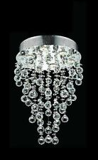 """New Drops of Rain Collection 7-Light 24"""" Round Pendant Crystal Chandelier"""