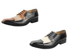LibertyZeno Men's Black/Grey and Brown/Tan Lace-Up Shoes