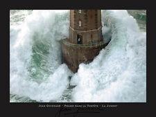 LA JUMENT ART PRINT JEAN GUICHARD man lighthouse poster coast wave ocean storm