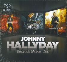 Johnny Hallyday : Intégrale Warner Live (5 DVD + 7 CD)