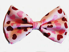 AWESOME HEARTS VALENTINES DAY SWEET HEARTS PINK ADJUSTABLE  BOW TIE - NEW IN BOX