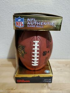 """OFFICIAL WILSON NFL """"THE DUKE"""" AUTHENTIC GAME BALL LEATHER FOOTBALL NEW w/ BOX"""