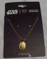Star Wars C3P0 C-3PO 16 Necklace Pendant Charm Disney Lucasfilm Jewelry
