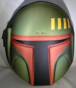 Star Wars BOBA FETT Mandalorian 3D Helmet School Backpack Bag OFFICIAL Disney
