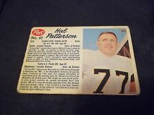 1962 Post CFL #62 Hal Patterson Hamilton Tiger-Cats - vg (pen mark)