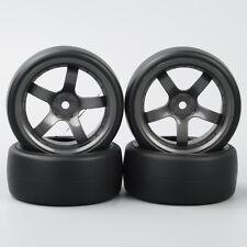 4Pcs Flat Drift Tires&Wheel Rim D5M For HSP HPI Rc 1:10 On-Road Racing Car
