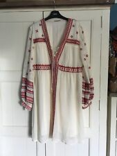 STUNNING BOHO EMBROIDERED DRESS FRENCH CONNECTION SIZE 14
