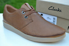 Clarks Mens BNIB Active Air Shoes OAKLAND LACE Dark Tan Leather UK 7 / 41