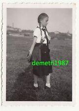 Foto BDM Mädchen Mädel in Uniform mit Brotbeutel um 1935 ! (F1966