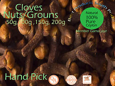 Cloves Hand Pick 50g Organic Ceylon and Natural Packet fast shipping
