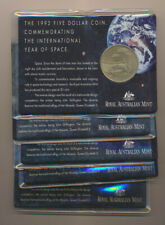 Australia: 1992 $5 Year of Space RAM Card Lot of 5 UNC