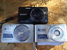 LOT 3 Sony DSC-W530 DSC-W570 DSC-W650 Digital Cameras 14-16MP REPAIR PARTS AS IS