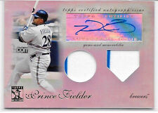 2009 09 TOPPS TRIBUTE PRINCE FIELDER REFRACTOR AUTO SIGNATURE DUAL JERSEY 60/99