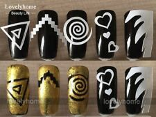 12Pcs Nails Sticker Stencil French Swirls Manicure Nail Art Decals 3D Styling