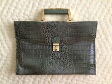 Vintage~Handbag~Genuine Leather~Made in Korea~Light Olive Green~Detachable Strap