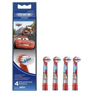 4 Braun Oral B Cars Kinder Aufsteckbürsten Original OralB Stages Power Bürsten