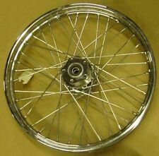 "Chrome Laced 21"" Front Wheel fits Harley FXST"