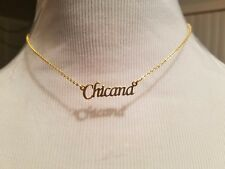 """""""Chicana"""" 18k gold plated stainless steel 16 inch necklace. Fast Free Shipping!"""