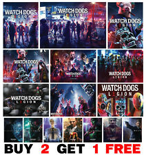 Watch Dogs Legion Video Game Poster Art Print Wall Home Room Decor Gaming Poster