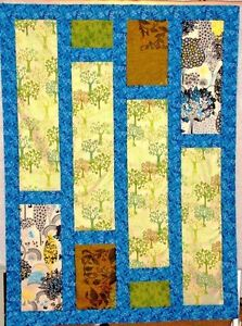"Oh Henry Quilt Throw Wall Hanging Or Baby Quilt 42"" X 57"" 100% Cotton Fabric"
