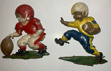 Football Player Wall Hanging Decor Collectible 1970 Sexton Plaque (Set Of 2)