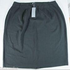 Eileen Fisher Viscose Stretch Ponte Knit Pencil Skirt BLACK 2X - Retail $208 NWT