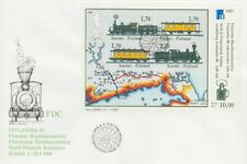 Steam Engine World Exhibition Route Finland Russia St. Petersburg FDC Sheet 1987