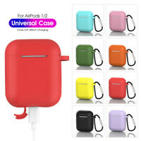 Skin Silicone Case Cover Candy Color Earphones Pouch For Apple AirPods 1 2