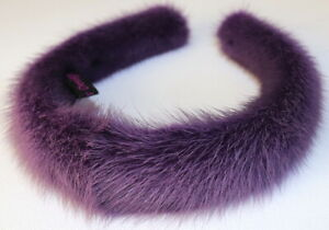 Mink Headband Fur Neck Hair Jewelry Chain Craw - Alice Band Purple Lilac