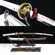 Hand forge T10 Clay Tempered Walking Dead Katana-Michonne's Sword ZOMBIE Killer.