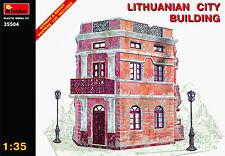 Lithuanian EDIFICIO CIUDAD II Guerra Mundial durante la Kit de modelismo