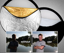 """43"""" 110cm 5-in-1 Photography Studio Light Reflector Collapsible light Disc Panel"""
