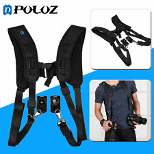 PULUZ Double Dual Shoulder Belt Strap Harness Holder For DSLR Camera Canon Nikon