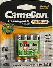 4x Akku AAA Micro Camelion 1100 mAh NiMH Advanced Formula