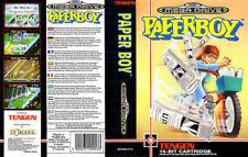 Paperboy Sega Mega Drive Pal JP Genesis Replacement Box Art Case Insert Cover