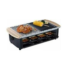 Raclette Grill, Two-Tier Party Cooktop, Stone Plate & Metal Grills Swiss-Style