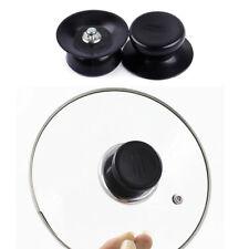 2x Black Pot Lid Knob Replacement Handle Handgrip Cookware Kitchen Pan Holding