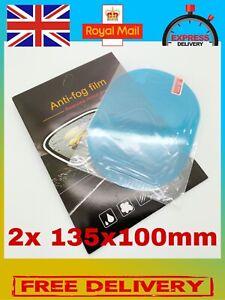 2pcs Car Rearview Mirror Anti Rain Anti Fog Waterproof Transparent Film UK FAST