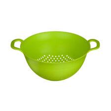 Colander Dual Handles Lime Green Plastic Kitchen Strainer Pasta Fruits Drainer