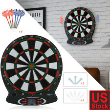 Arachnid Electronic Dart Board Set Target Game Room LED Display + 6 Darts