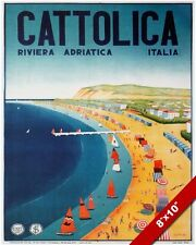ADRIATIC SEA PESCARA ITALY TRAVEL POSTER PAINTING ART GICLEEREAL CANVAS PRINT