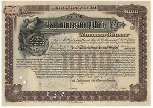 B & O Railroad Bond Issued to Supreme Court Justice Louis Brandeis